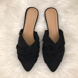 Shoes - Tori Top Knot Suede Flat Mules